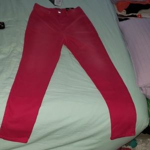 Magenta Lycra Fashion Nova Pants